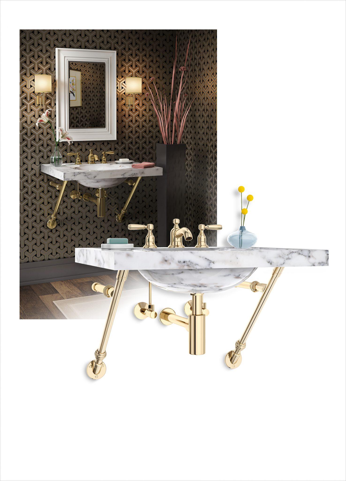APEX   Palmer Industries Bathroom Sink Mounting Cket on